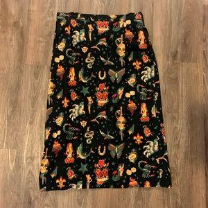 Sailor Jerry Pinup/Rockabilly Pencil Skirt